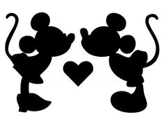 236x182 Minnie Mickey Mouse Kissing Vinyl Decal Picture Frame Window