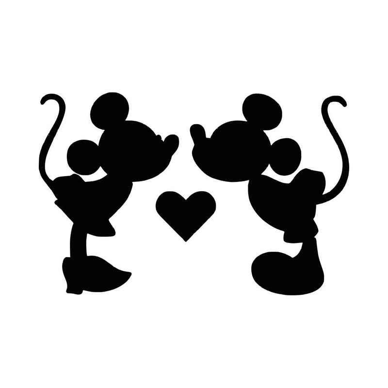 Mickey And Minnie Silhouette Clip Art At Getdrawingscom Free For