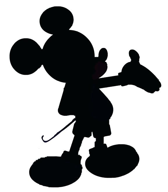 577x660 Mickey Mouse Outline Cutout Vector Art Silhouette Mickey Mouse