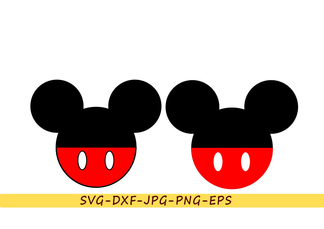 1053x745 Mickey Mouse Svg Head Ears Silhouette Disney Clip Art In Svg