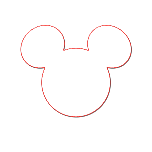 600x600 Incredible Design Ideas Mickey Mouse Head Outline Leaf Template