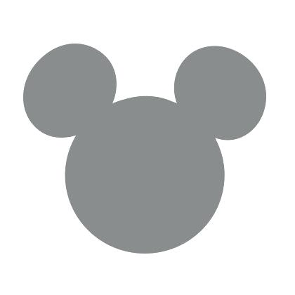 420x420 Mickey Mouse Head Silhouette Also Listening Ears Template Mickey