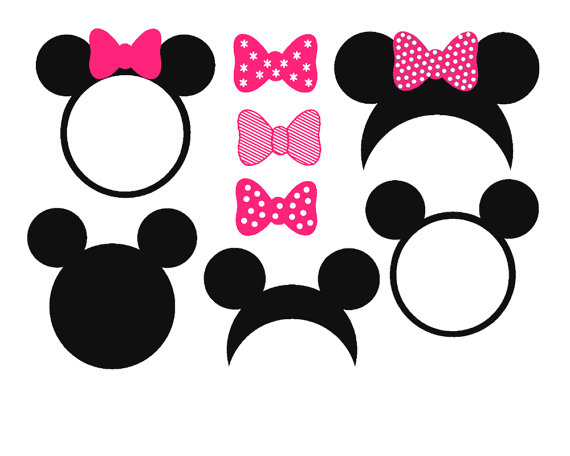 Mickey Head Silhouette At Getdrawings Com Free For Personal Use