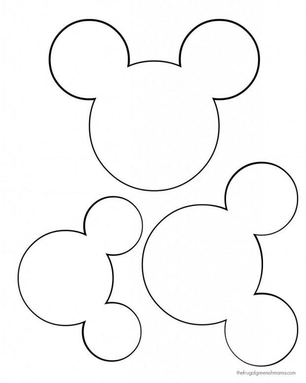 620x775 Mickey Mouse Ear Template Rclxelxri Portrait Excellent For Head