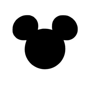 300x300 Black Mickey Head Clip Art