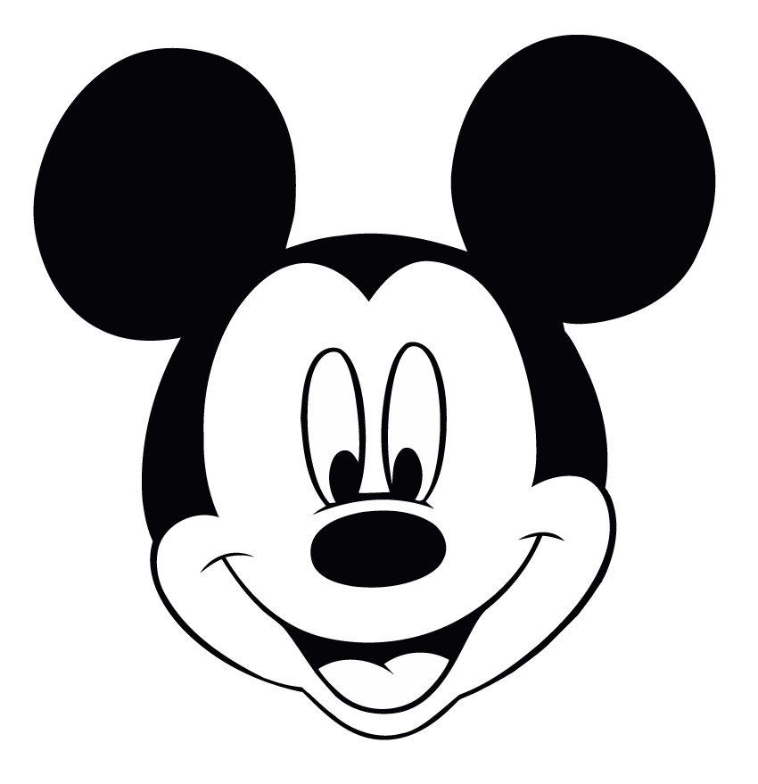 850x879 Disney Mickey Mouse Head Silhouette Wallpaper