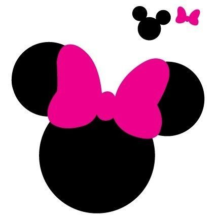 photograph relating to Minnie Mouse Template Printable identified as Mickey Mouse Ears Silhouette at  Totally free for