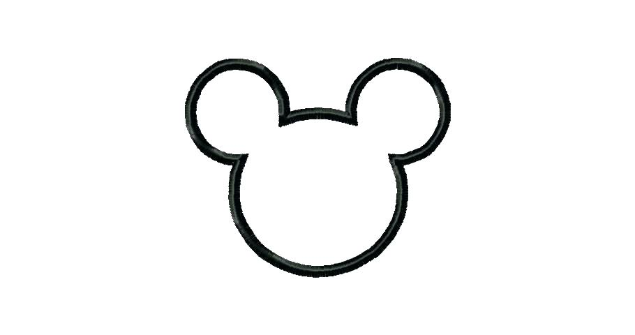 910x480 Mickey Mouse Outline