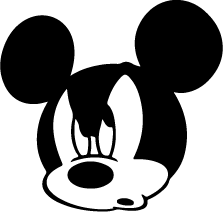 223x212 Mickey Mouse Face Silhouette Silhouette Of Mickey Mouse Face