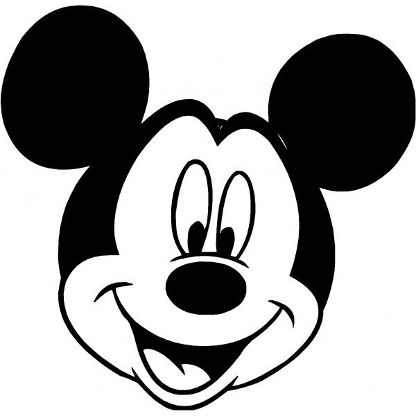 mickey mouse face silhouette at getdrawings com