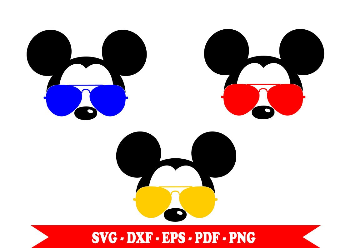 1123x794 Mickey Mouse Aviator With Svg Sunglasses Head Face Clip Art