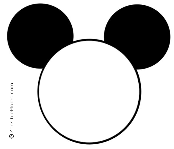 590x504 Mickey Mouse Hand Template. Make Mickey Mouse Bags For Baby Shower