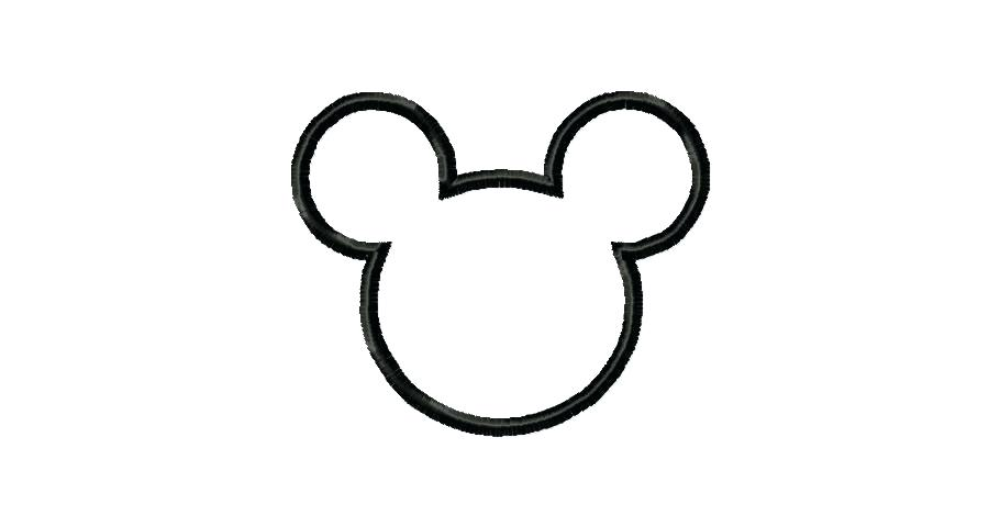 910x480 Beautiful Design Mickey Mouse Head Outline Dot To Template Free