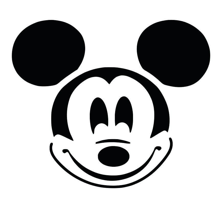 864x864 Mickey Mouse Outline Cutout Vector Art Silhouette Mickey Mouse