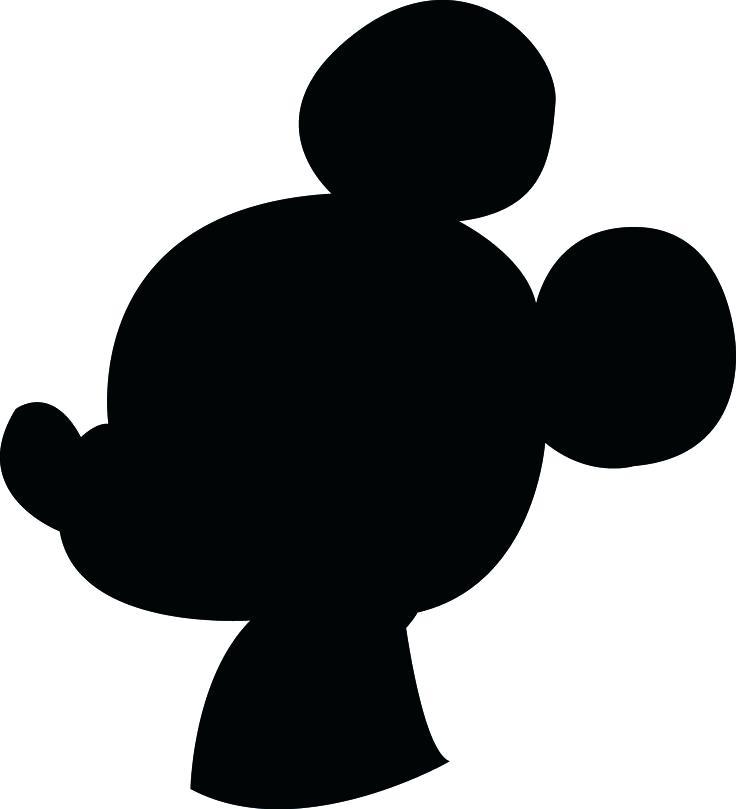736x809 Peachy Mickey Mouse Head Outline