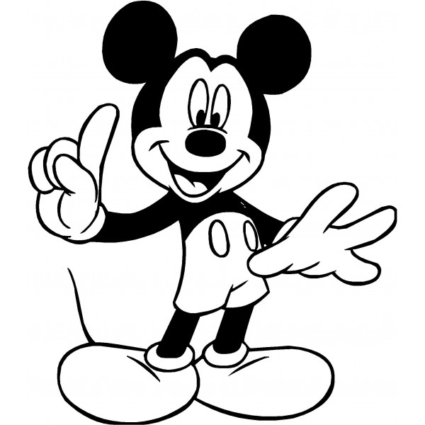 600x600 Mickey mouse clip art silhouette free clipart images 2