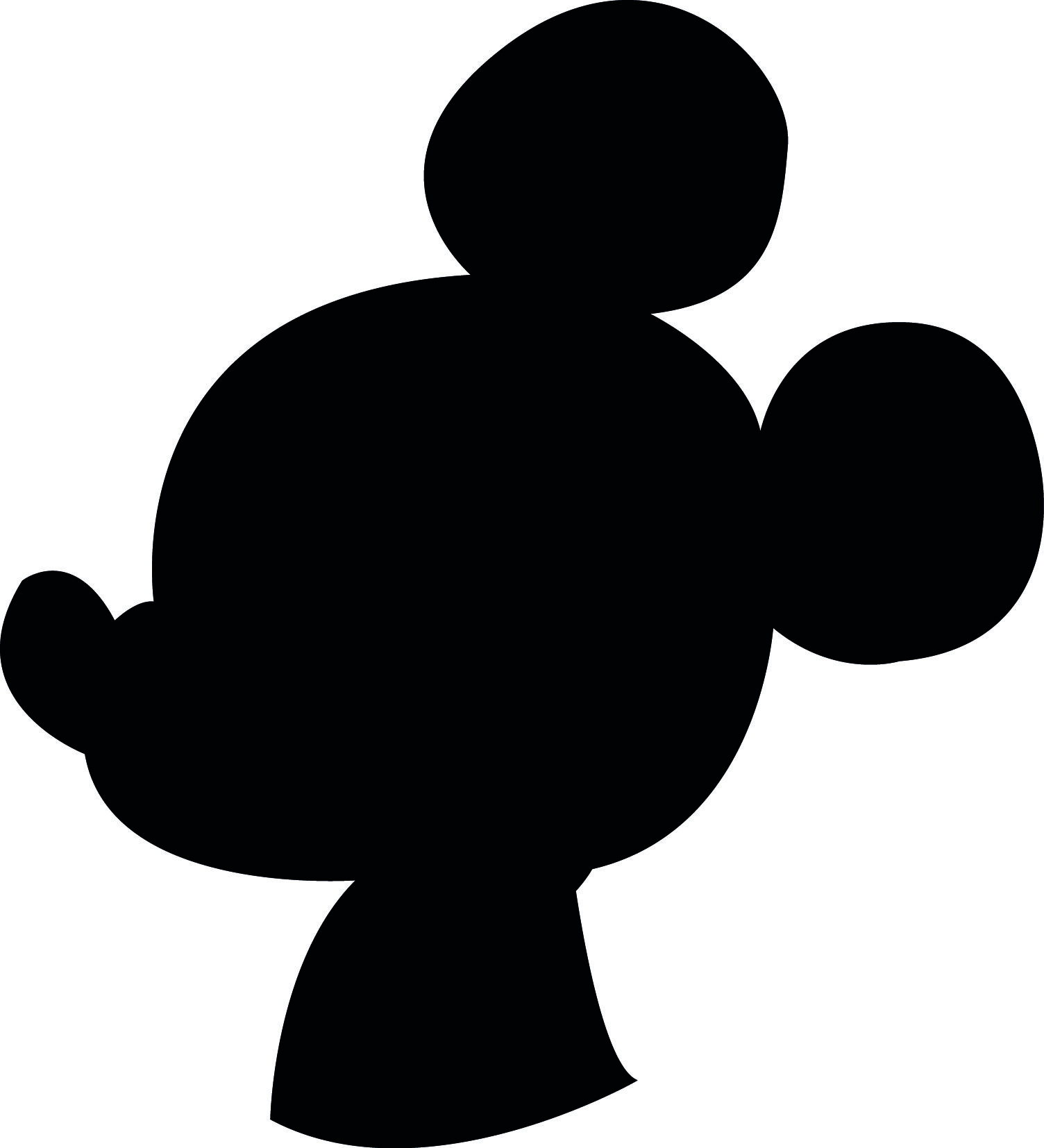 1504x1654 downloadable printable mickey profile silhouette Silhouettes