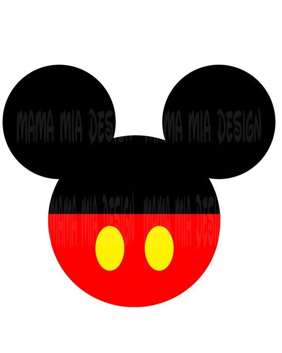 570x713 Mickey Mouse Head Printable Cricut Maker Mickey