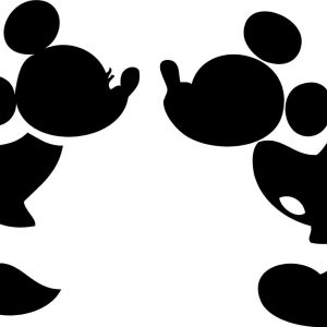 300x300 Mickey Mouse Silhouette Coloring Pages Copy Disney Coloring Pages