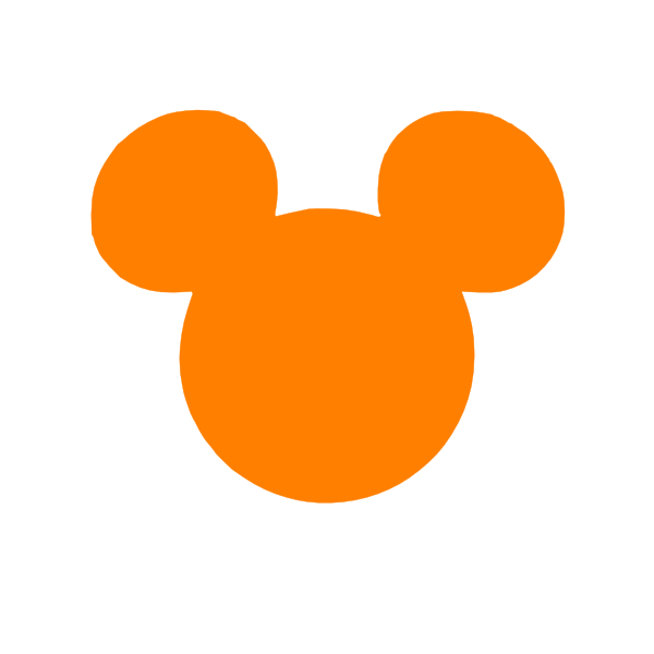 600x600 Orange Mickey Head Clip Art