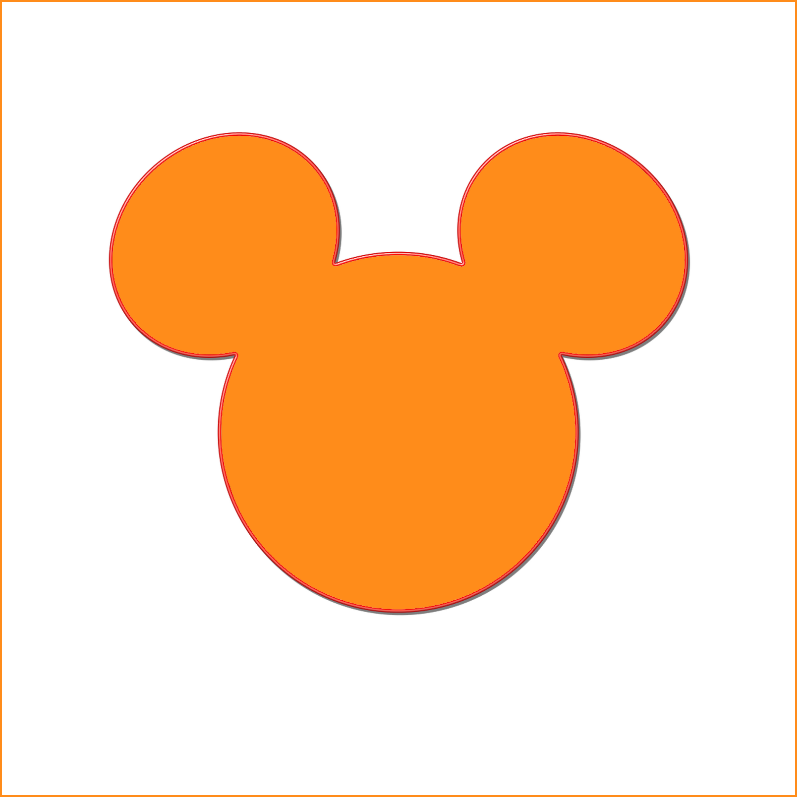 Mickey Mouse Silhouette Head