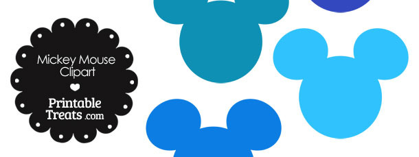 610x229 Mickey Mouse Head Clipart In Shades Of Blue Printable
