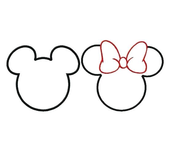 570x488 Mickey Mouse Head Silhouette Also Mouse Ears Clip Art Mickey Blue