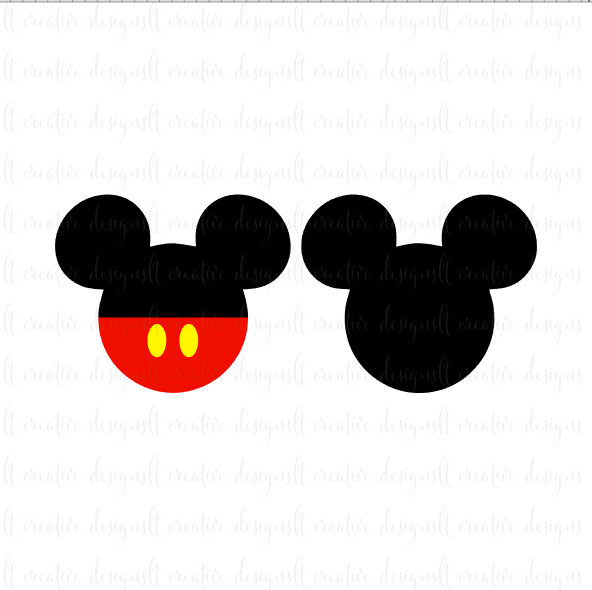 592x590 Mickey Mouse Svg, Mickey Mouse Head Svg, Mickey Mouse Ears Svg