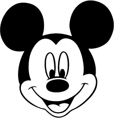 235x244 Mickey Mouse Face Silhouette Silhouette Of Mickey Mouse Face