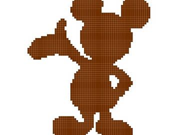 340x270 Pattern Grid For Mickey Mouse Silhouette Baby Afghan Mickey