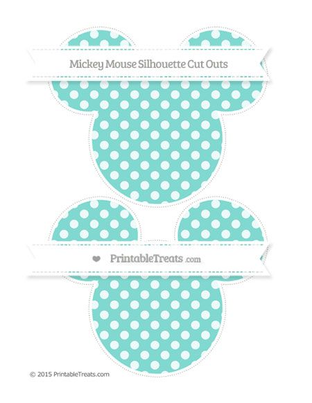 450x582 Tiffany Blue Dotted Pattern Large Mickey Mouse Silhouette Cut Outs