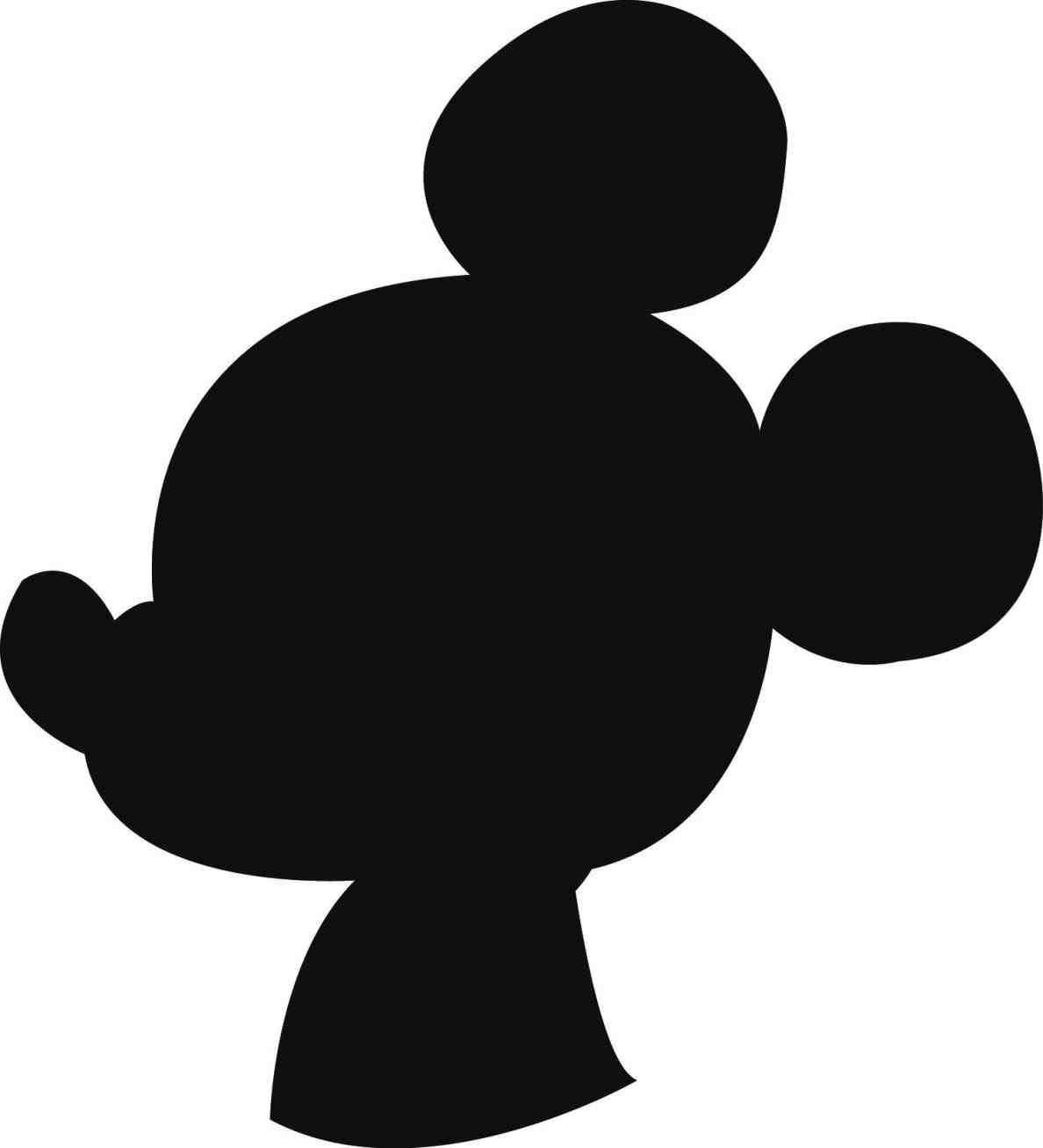 photo relating to Free Printable Mickey Mouse Silhouette called Mickey Mouse Silhouette Template at  Totally free