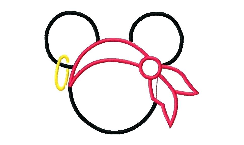photo relating to Printable Mickey Mouse Head identified as Mickey Mouse Silhouette Template at  Free of charge
