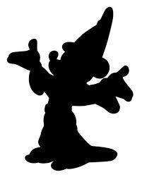 201x251 Mickey Mouse Fantasia Silhouette Decal Jess Pinterest