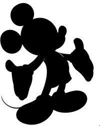 Mickey Mouse Silhouette Vector