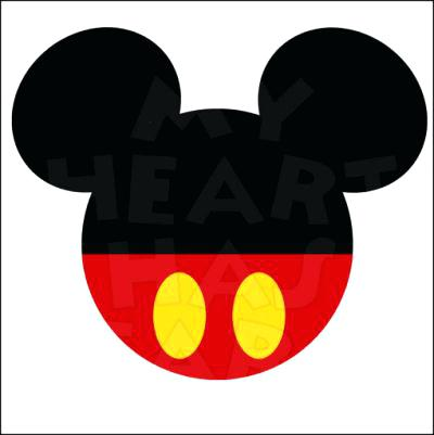 400x401 Mickey Mouse Head Silhouette Also Listening Ears Template Mickey
