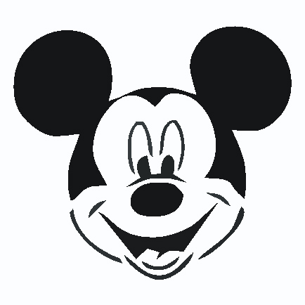 434x434 Mickey Mouse Clip Art Silhouette Clipart Panda