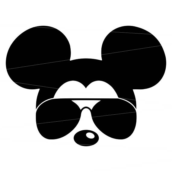 570x570 Mickey Mouse Head Outline Svg