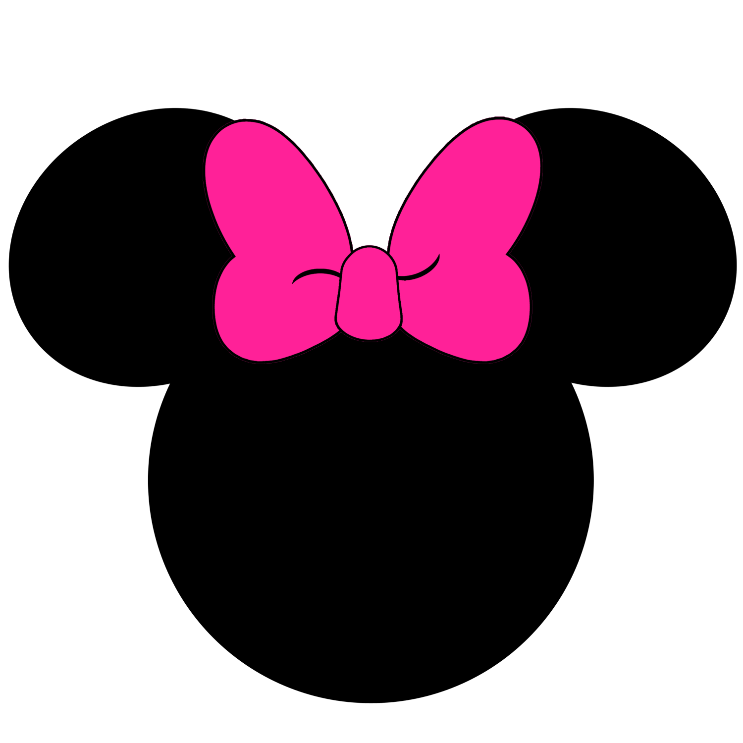 1500x1500 Fresh Idea Minnie Head 30 Images Of Mouse Template With Bow