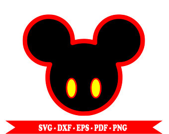 340x270 Ears Of Mickey Mouse Svg Silhouette Head Clip Art In Digital