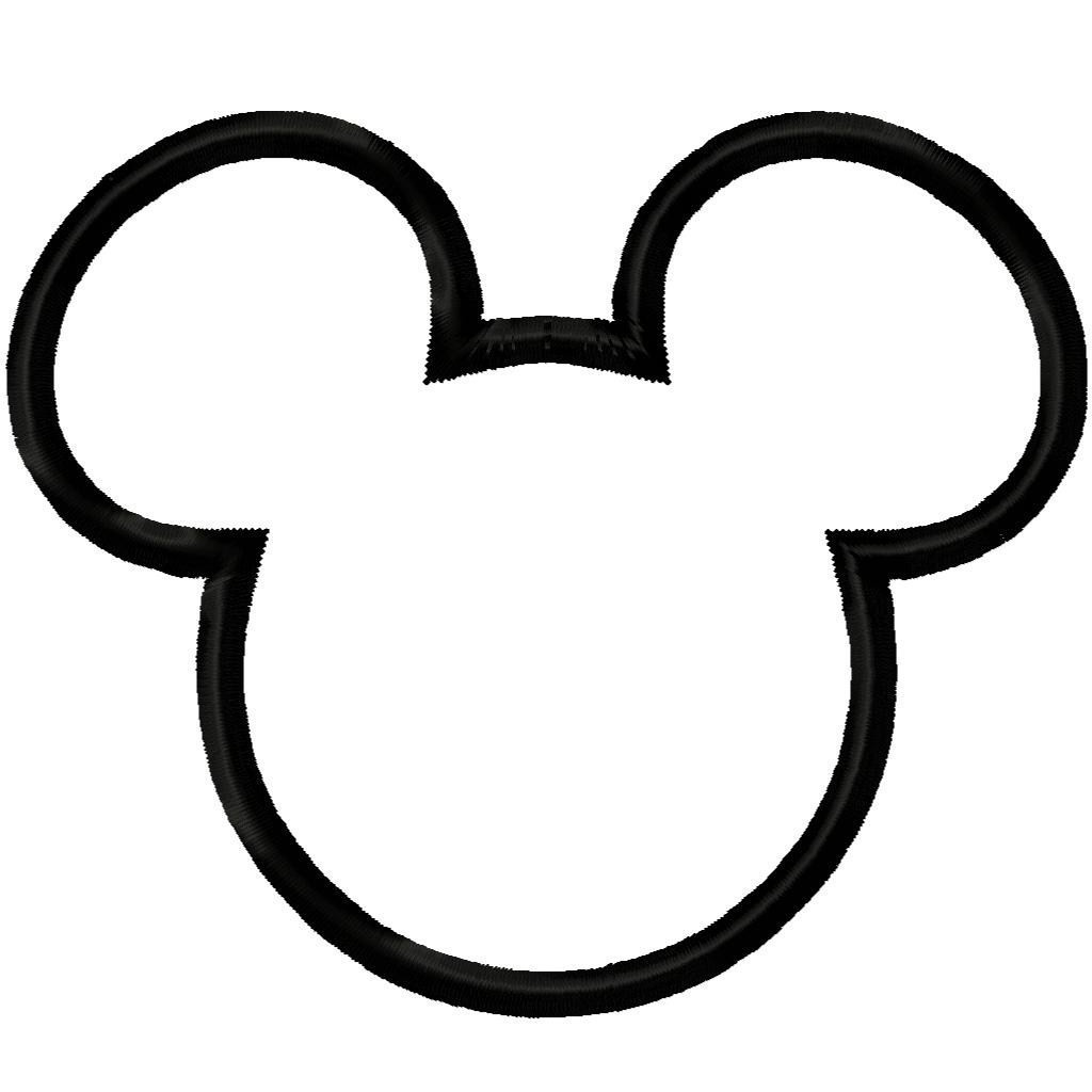 1024x1024 Mickey Mouse Silhouette Coloring Pages Copy Mickey Mouse Ears