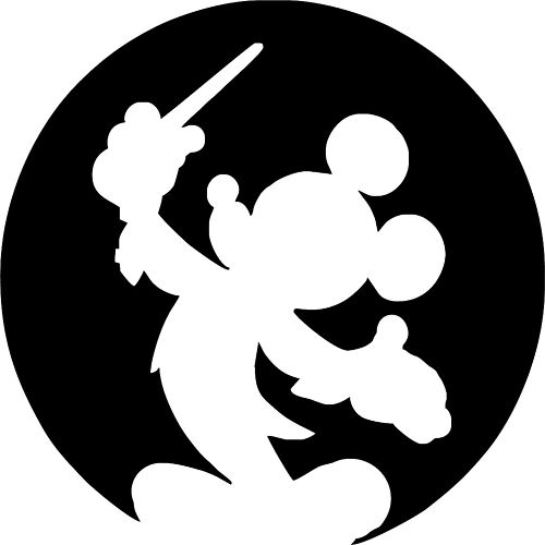 500x500 Mickey Mouse Silhouette Clipart