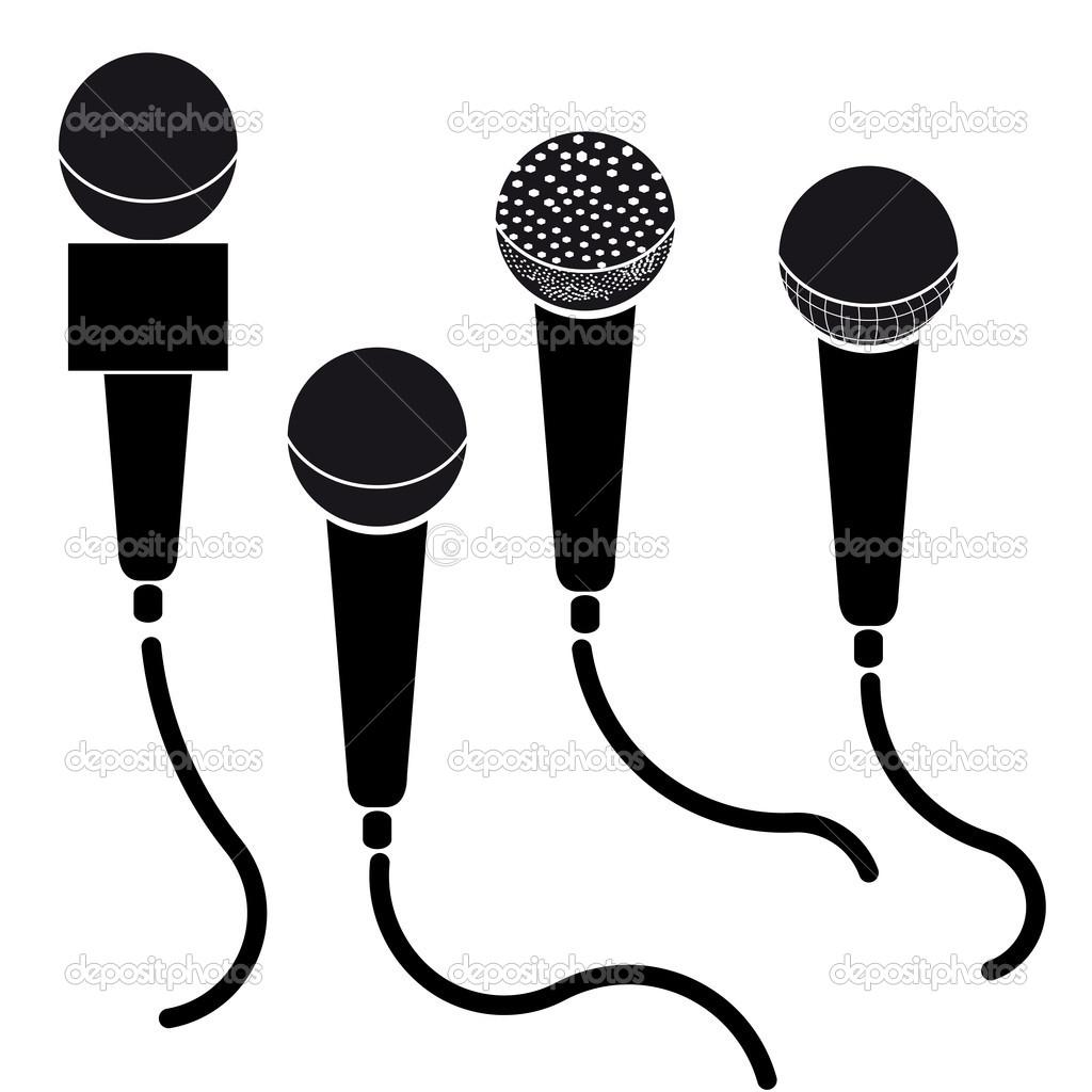 Microphone Silhouette Clip Art