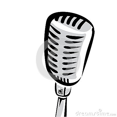 400x400 Vintage Mic Silhouette Clipart Of Black