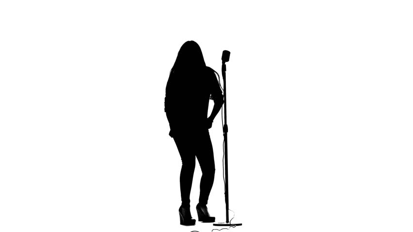 Microphone Stand Silhouette at GetDrawings | Free download