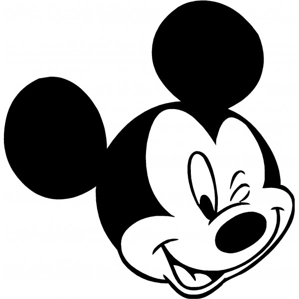 600x600 Mickey Mouse Clip Art Silhouette Free Clipart Images 7