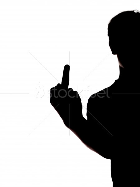 450x600 Middle Finger Silhouette Stock Photo Stockfuel