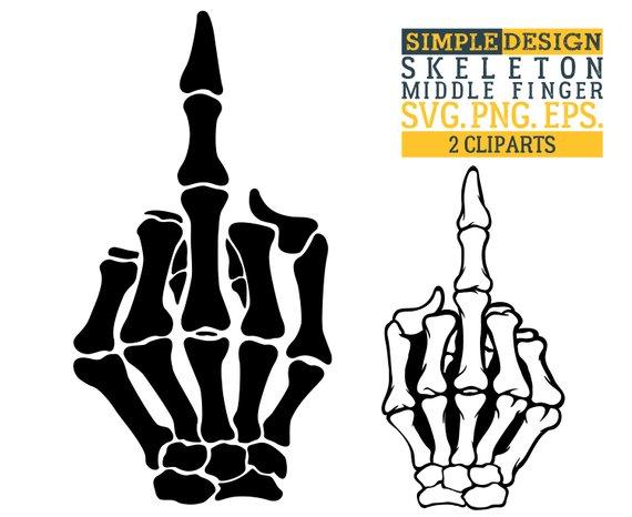 570x466 Skeleton Middle Finger Svg Middle Finger Svg Hand Sign Svg