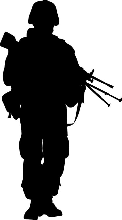 419x753 Wallhogs Haynes Military Soldier Vii Silhouette Cutout Wall Decal
