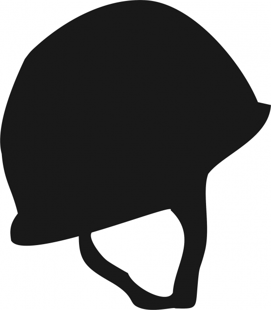 559x640 Military Helmet Silhouette Laser Cut Appliques